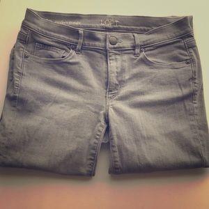 Ann Taylor Loft modern straight gray jeans